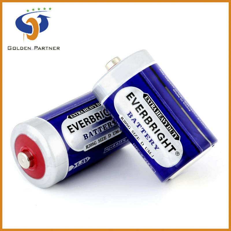 Most Demanded Products R20 PVC Jacket Battery for Torch Light Dd