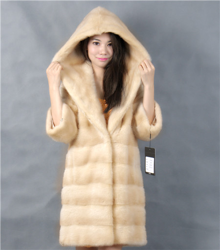 2015 font b winter b font woman fashion real mink fur LONG real mink coat 8051