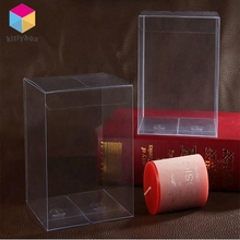 New Small Clear Hard Foldable Plastic Packaging Box
