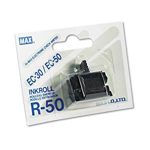MXBR50 - MAX R-50 Black Ink Roller For EC-30A, EC-70, EC-30, and EC-50 Check Writers