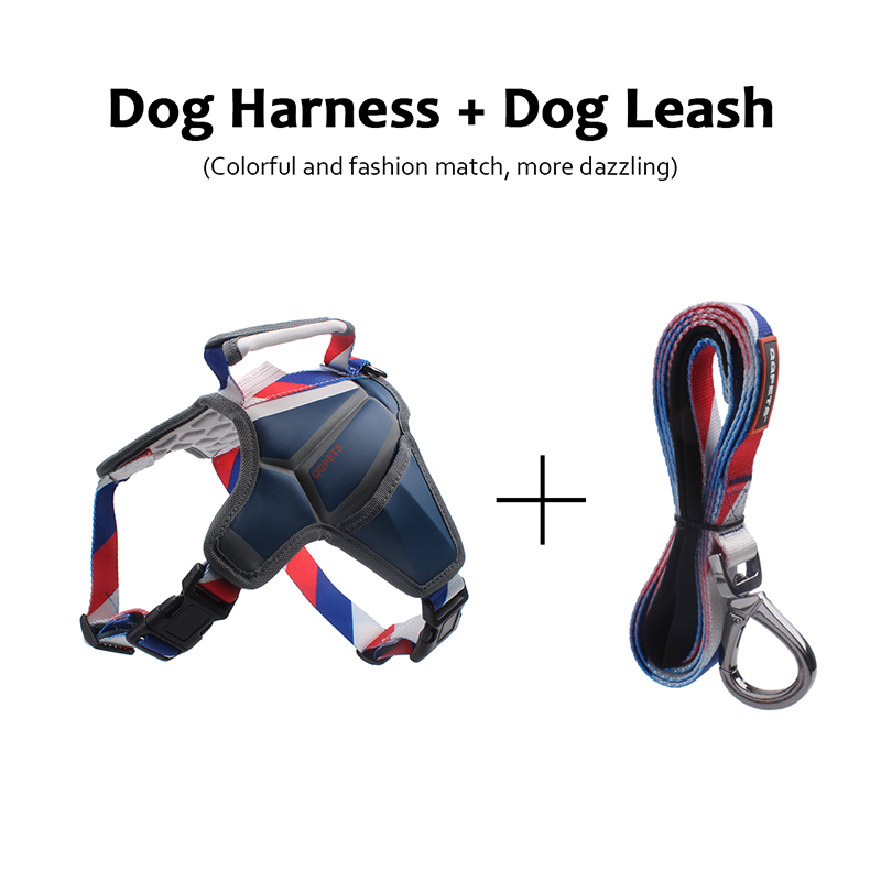 Factory adjustable tactical dog harness with padded front range service