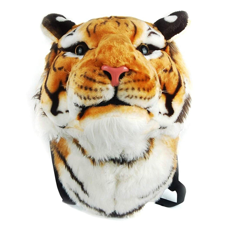 eshion Cool Huge Animal Style Backpack Tiger Head Lion White Tiger Head Bags Knapsack