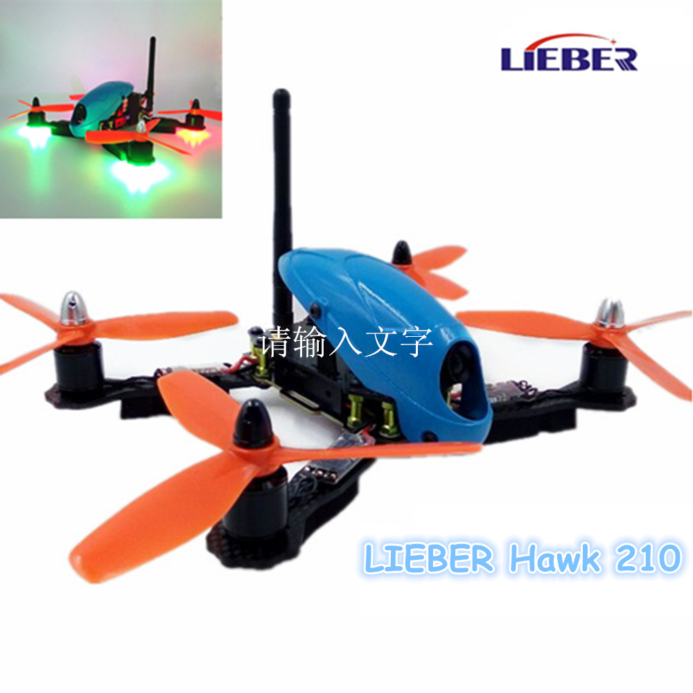 AQ 2017 NEWEST AN1 2.4G 4A-xis HAWK210 ARF Aircraft with HD camera & SP Racing F3 flight controller xi