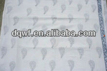 Latest designs use Embroidered Print polyester satin dress lining fabric