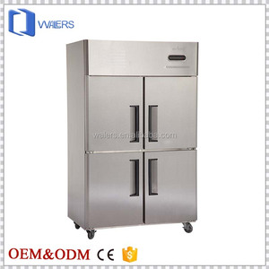 Fan Cooling System Factory Price 4 Door Commercial Refrigerator and Freezer