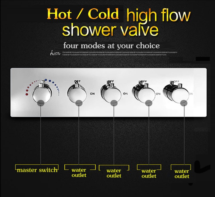 rainfall and hand complete shower set 360*500mm embeded ceiling rainfall waterfall shower and hand shower