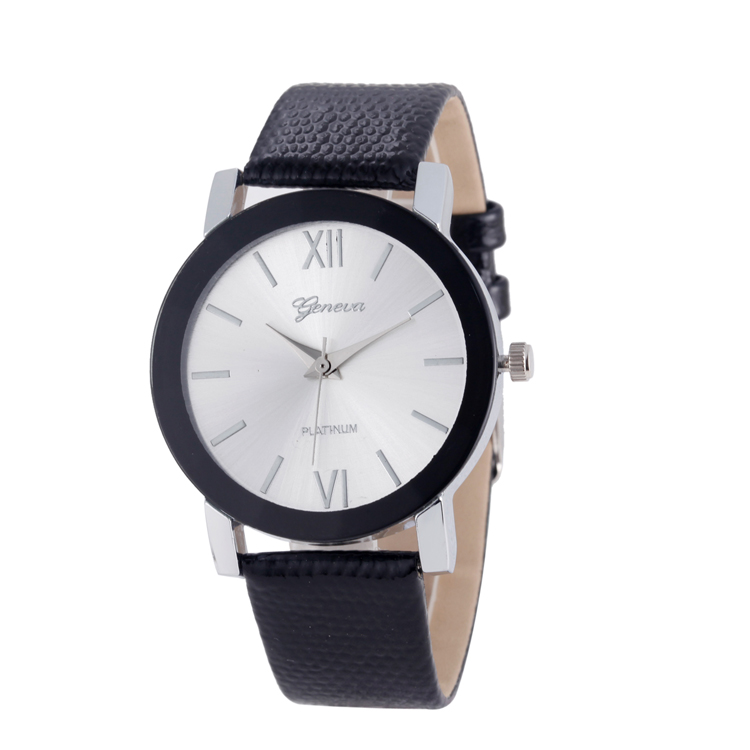 Wholesale promotional watch geneva logo printed mixed color available factory price