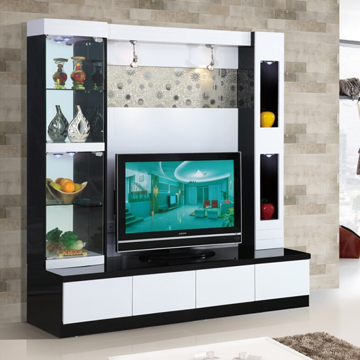 New arrival modern tv stand wall units designs 010 lcd tv for Latest lcd wall unit designs