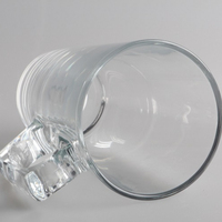 Kirin clear frosted glass beer mug 400ml