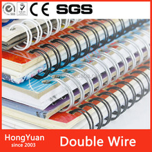"coil diameter 1/2"" binding thickness 9.7mm pitch 3:1 Wire Binding 32 Loop 11"" Color Black Twin Loop Double Loop Wire O"