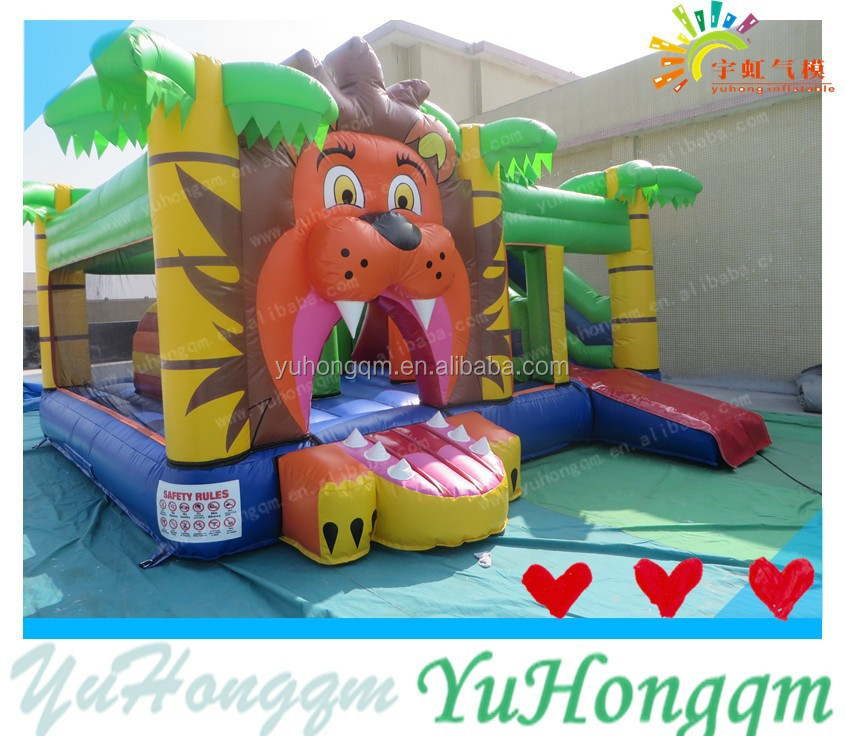 Jungle lion king Inflatable Super Bounce Castle Bouncer for Kids 2016