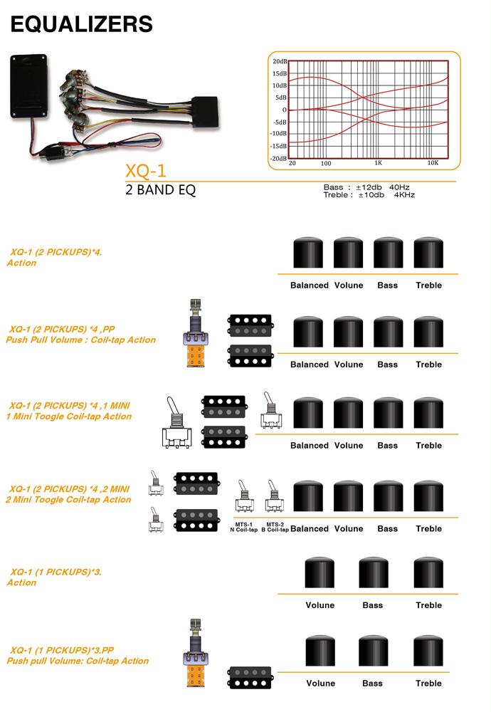 Xq-1 2 Band Eq Guitar Equalizer - Buy Acoustic Guitar Equalizer ...