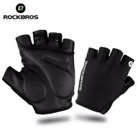 ROCKBROS Bicycle Bike Half Fingger Gloves Shockproof Breathable Men Women Summer MTB Mountain Sports Cycling Clothings Gloves