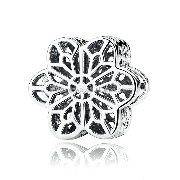 <strong>Fashion</strong> Women's Genuine 925 Pure Sterling Silver Hollow Flower Charm Bead Fit European Bracelet