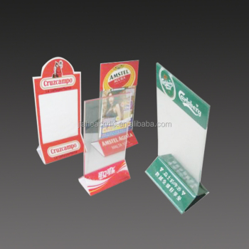 Stylish Custom Acrylic Table Tent Card Holder Hotel Drink Bar Menu - Bar table tents