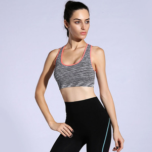 China manufacturer soft fitness quick dry damping shock sports tops seamless yoga bra