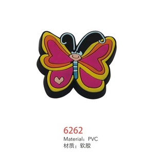 Children room furniture fitting pvc kids butterfly drawer knobs,children cabinet handle