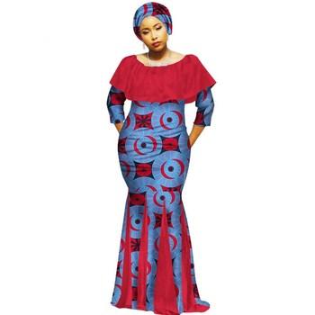 ef30e0ce85f 2018 Autumn Robe Africaine Femme Dashiki Dresses Ethnic Plus Size 6XL African  Traditional Dresses Print 6xl