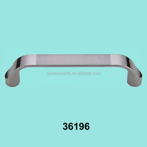 Grey desk flat drawer door pull handles for office furniture