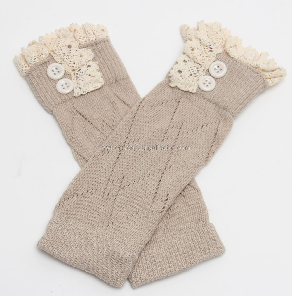 2015 Panty Beenwarmers Kids Baby Meisje Haak Gebreide Button Toppers