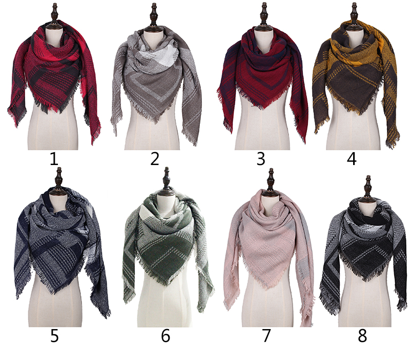 Fashion Accessories High Quality Sweater Poncho Knitted Ladies Winter Square Cashmere Scarf
