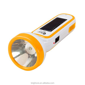 2018 new led flashlight rechargeable with solar panel