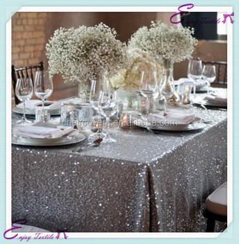 Yht#131 Silver Sequin Polyester Banquet Wedding Wholesale Cheap ...
