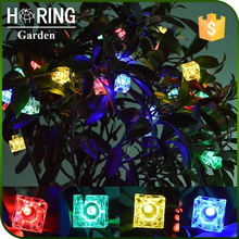 CE/Rohs 10/20/30 LEDs Outdoor Solar String Lights Ice Cube Brick Lights Indoor Decorative Lamps for Gardens