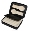 Small jewelry briefcase portable leather travel jewelry case