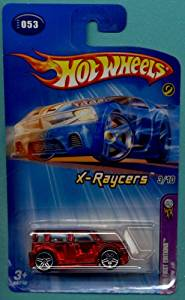 Mattel Hot Wheels 2005 First Editions 1:64 Scale X-Raycers Clear Red Scion XB Die Cast Car #053