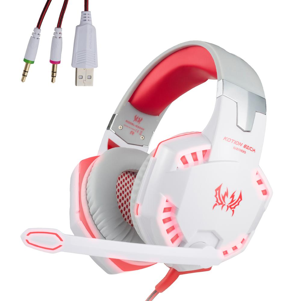 Over Ear Stereo Gaming Headset Wired Headphone with Adjustable Headband and Microphone