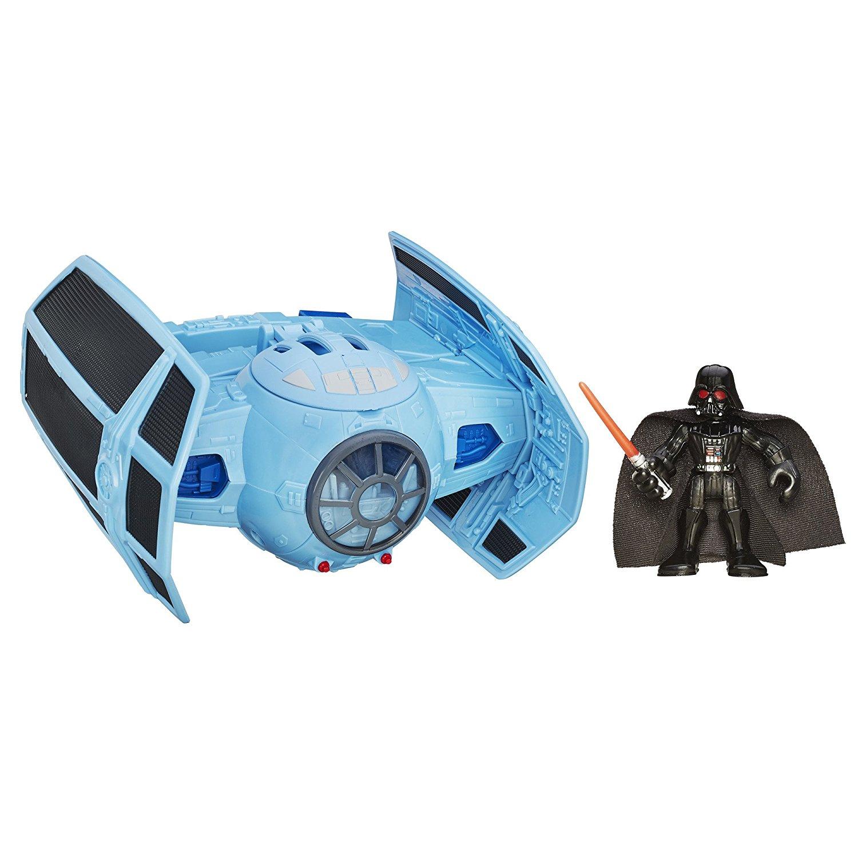 Playskool Heroes Star Wars Galactic Heroes Jedi Force TIE Advanced Fighter Vehicle with Darth Vader Figure