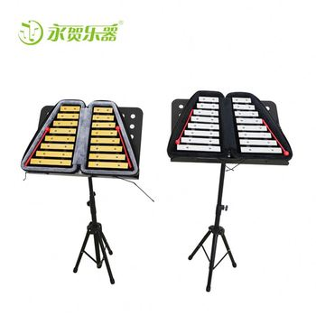 China wholesale marching glockenspiel,metallophone for sale marching metal Musical Instruments with stand