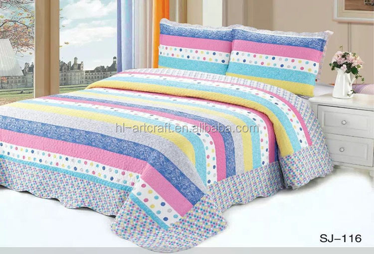 Top Ing Wholes High Quality Hand Embroidery Printed Design Bed Sheet
