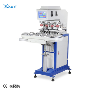 2 color tampo printing machine with conveyor