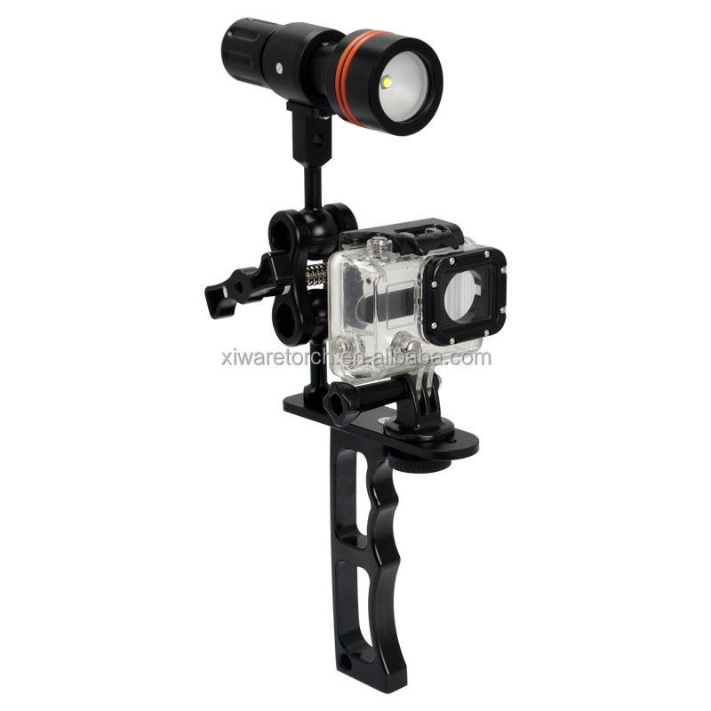 Diving Camera Flashlight Mount Holder Archen Z09 Bracket Gopro