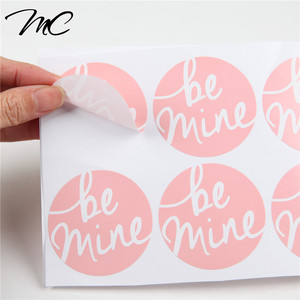 Custom adhesive sticker for fabric plastic clothing label garment sticker fabric