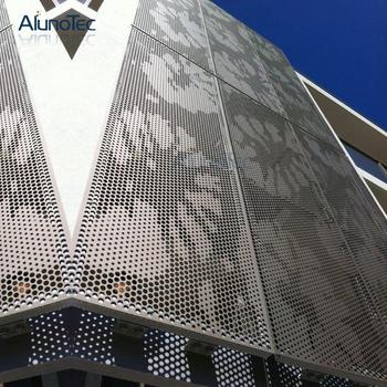 Custom Made Aluminium Perforated Metal Screen For Building