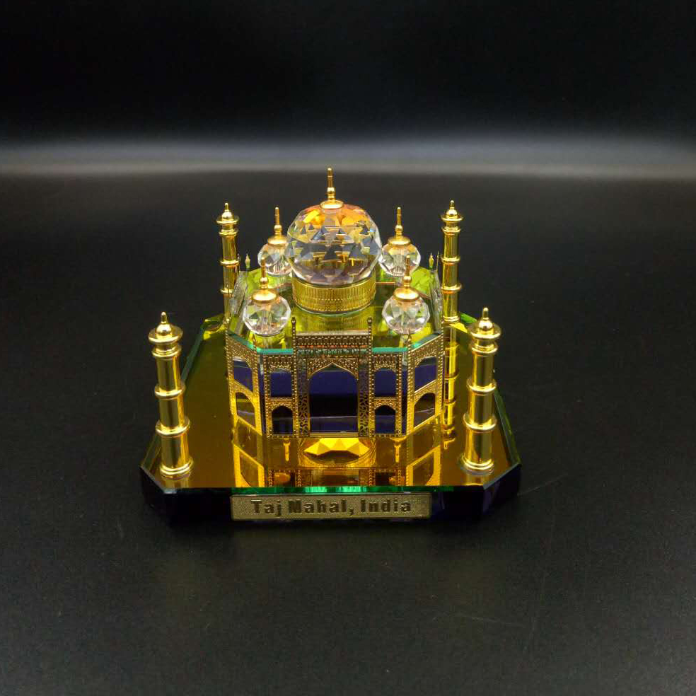New Design Hight-Quality Crystal Glass Miniature Build Taj Mahal Model