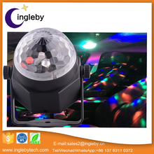 Factory direct sale 3w led crystal Magic ball disco DJ RGB full color China moving head mini theatre led stage light