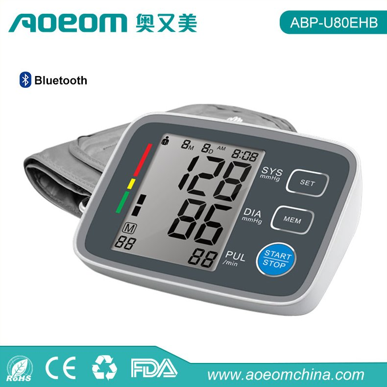 FDA Approval AOEOM Bluetooth 4.0 Arm Type Blood Pressure Monitor