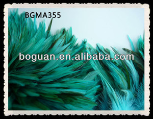 Bulk Teal Blue Saddle Rooster Feathers Fringe