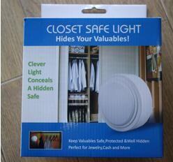 New Large Push LED Closet Safe Light