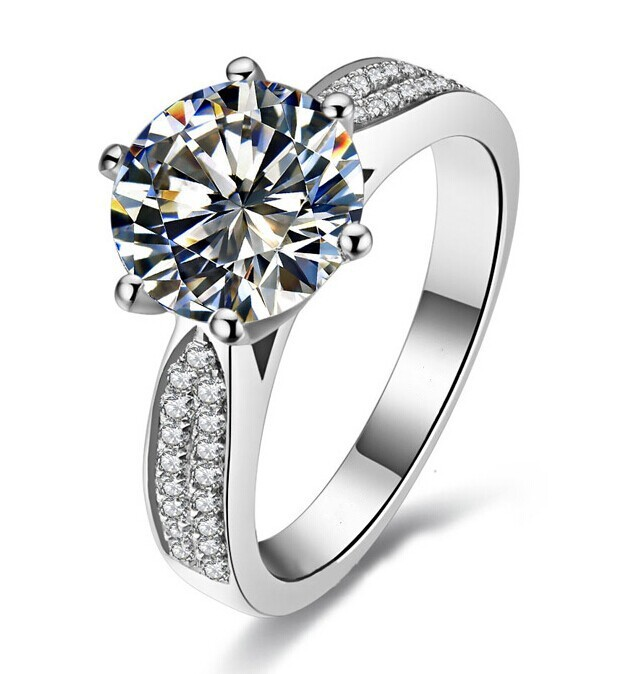 Victoria Wieck Engagement White Topaz Diamonique 14KT Gold Filled Wedding Band Ring Gift Free shipping