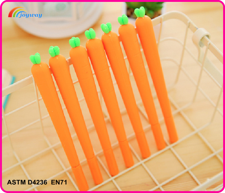 Popular creative funny plastic carrots Roller ball pens for school students