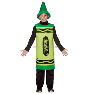 Kids Different colors Crayon Halloween Carnival Fancy Dress Costume Outfit