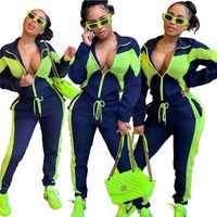 C91005 2019 Design Women Casual Long Sleeve fitness tracksuit two piece Set for women clothing