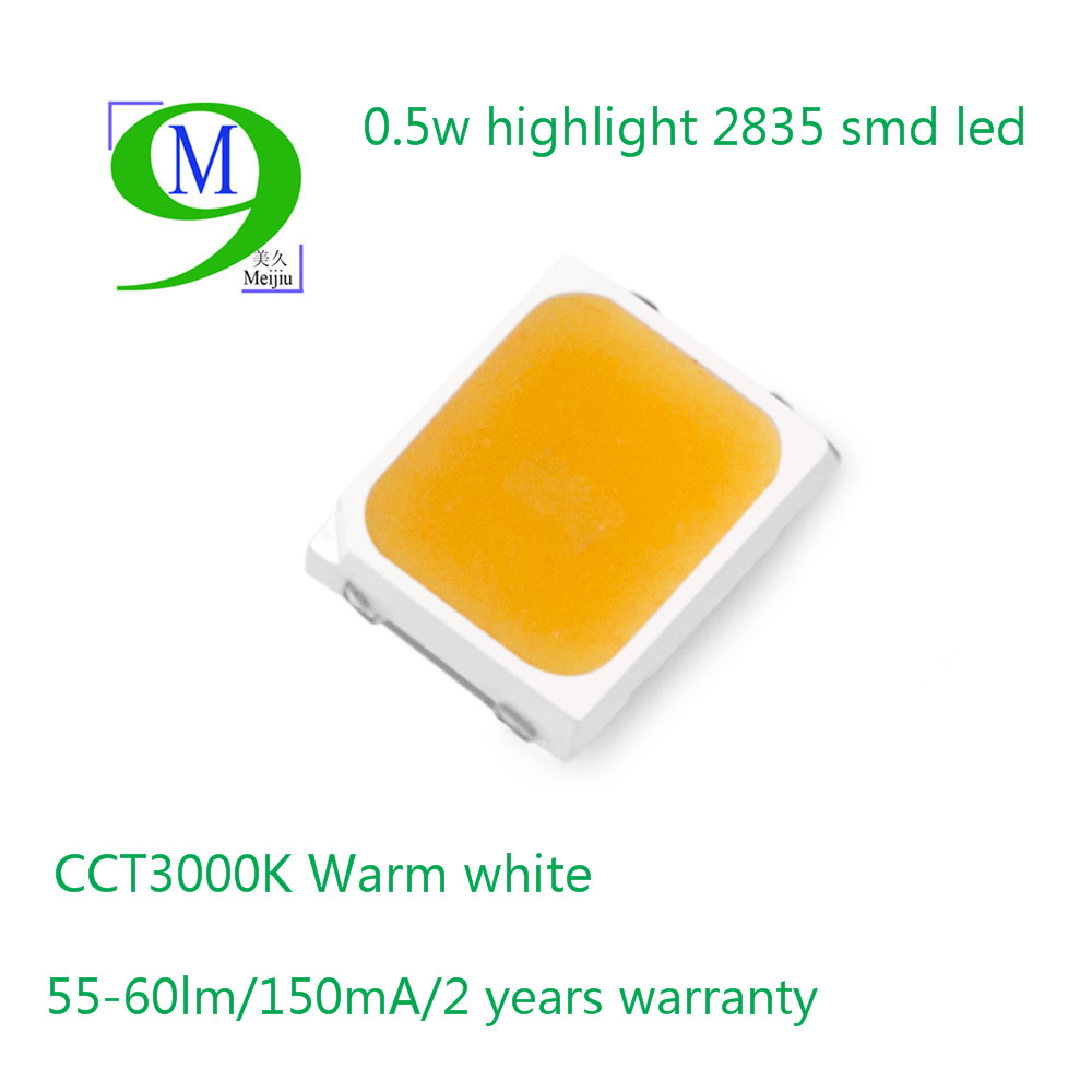 China Supplier High Quality 0.5W 1W LED Epistar Chip SMD 2835 LED