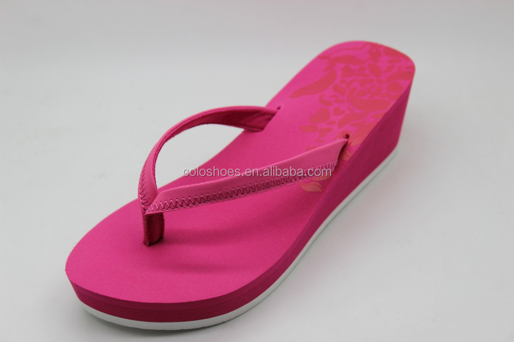 Wholesale Soft Sole Woman High Heel Wedge Flip Flops Sandal