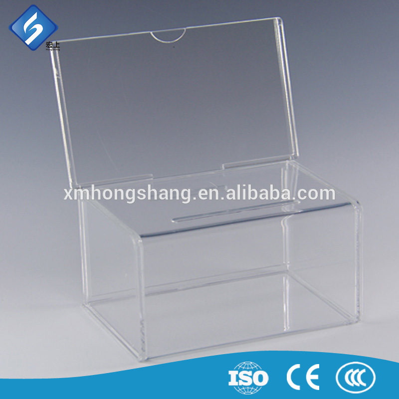 Low Price Acrylic Suggestion Letter Donation Box With Lock China